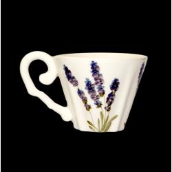 Kerámia kávéscsésze - Vanilia Kerámia/Violin levendulás