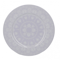 Porcelán desszerttányér fehér virágos - Wild Apricity