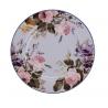 Porcelán desszerttányér fehér, szines virágos -  Wild Apricity