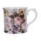 Porcelán bögre 4dl - fehér, virágos - Wild Apricity
