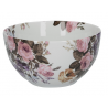 Porcelán tálka 15,5x8x15,5cm- fehér, virágos