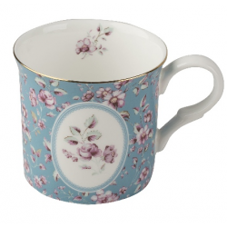 Porcelán bögre 2,3dl - kék, virágos - Ditsy Floral
