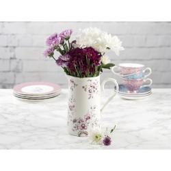 Porcelán kancsó, 1100 ml - fehér, virágos -  Ditsy Floral