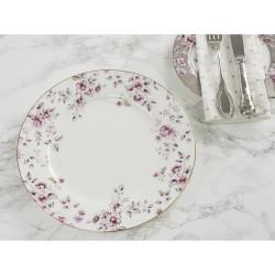 Porcelán lapostányér fehér, virágos 26,5cm -  Ditsy Floral
