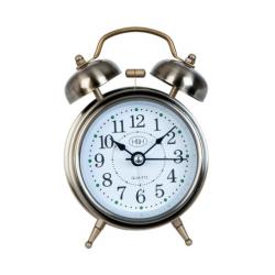 Ébresztő óra fém 8x5x12cm,bronz színű