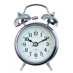 Ébresztő óra fém 8x5x12cm,ezüst színű