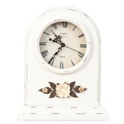 Asztali óra fehér,virággal 27x9x34cm