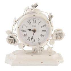 Asztali óra rózsás 20x10x18cm,fehér