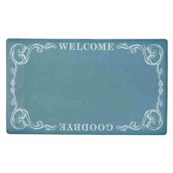"""Előszoba belépő 74x44cm, zöld, """" Welcome-Goodbye"""