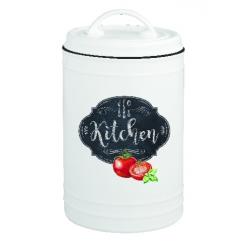 Porcelán konyhai tároló edény 10x20cm, Kitchen Basics