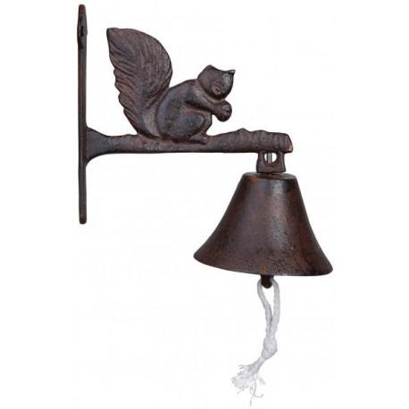 Öntöttvas fali kolomp - mókus dekorral
