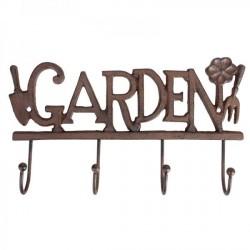 Falifogas -öntöttvas Garden felirattal