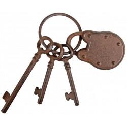 Dísz kulcsok karikán lakattal