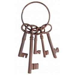 Dísz kulcsok karikán