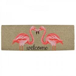 Kókuszrost lábtörlő - flamingó