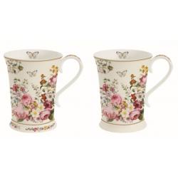 Porcelán bögre szett 2 db, 270ml, díszdobozban, Blooming Opulence