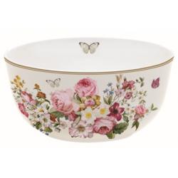 Porcelán tálka 14cm, színes virágos, Blooming Opulence