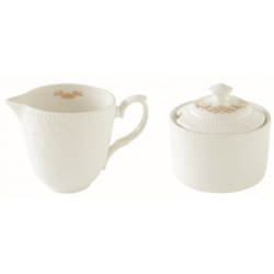 Porcelán tej/citromkiöntő-cukortartó szett 250ml, dobozban Maison Chic