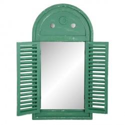 Falitükör - zöld,antikolt