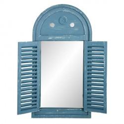 Falitükör - kék,antikolt