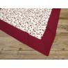 Asztalterítő 100x100cm, 100% pamut, mintás, bordó bordür, Rosepha