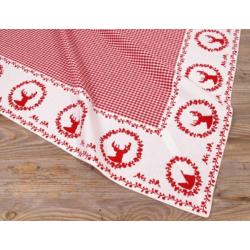 Asztalterítő 100x100cm, 100% pamut, Gerry red