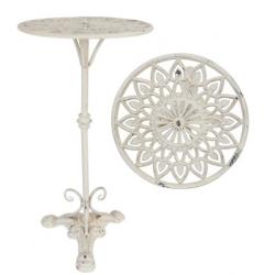 Kovácsoltvas kisasztal antik krém 28x56cm