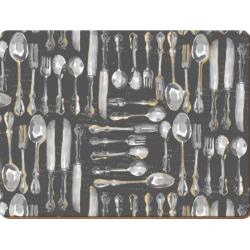 Parafa tányéralátét 4db-os 40x29cm, Metallic Cutlery