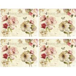 Parafa tányéralátét 4db-os 40x29cm, Marche Aux Fleur