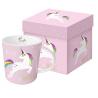 Porcelán bögre 0,35l dobozban,Pink Unicorn