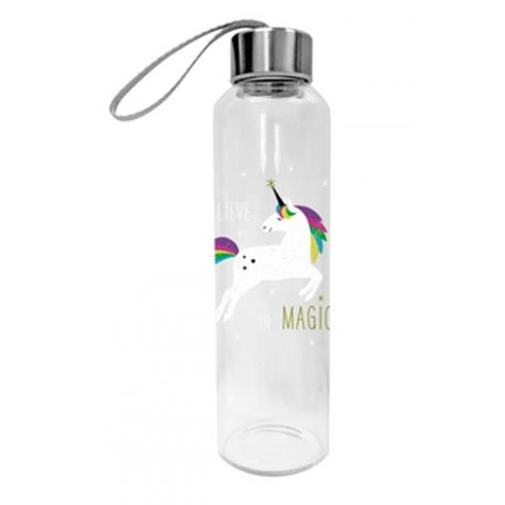 Üveg flaska 550l, White Unicorn