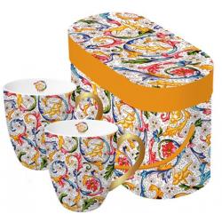 Porcelán bögre 0,35l dobozban 2db-os, Tassotti Design sárga