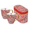 Porcelán bögre 0,35l dobozban 2db-os, Tassotti Design piros