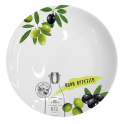 Porcelán tányér, 27 cm, Buon Appetito