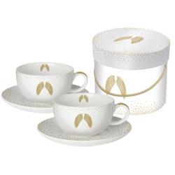 Porcelán cappuccino csésze tányérral 0,2l ,dobozban
