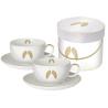 Porcelán cappuccino csésze tányérral 0,2l ,dobozban Holy Wings