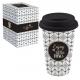 Porcelán utazó bögre szilikon tetővel 0,35l Coffee Mania