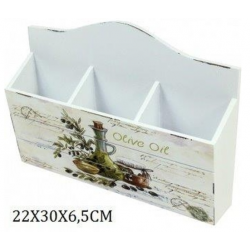 Fa tároló 3 fakkos, Olive Oil 22x30x6,5cm