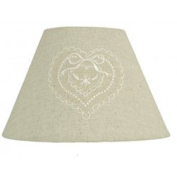 Textil lámpabúra + keret 23x15cm, natúr, szives masnis