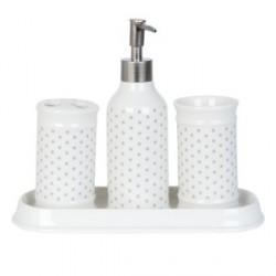 4 db-os fürdőszobai szett - csillagos
