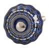 Ajtófogantyú 3cm, kék fehér mintával