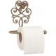 Fém toalettpapír tartó 17x11x15cm, rózsás