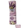Hímzett kéztörlő lila , bordűrrel, fémkarikával, 40x60cm
