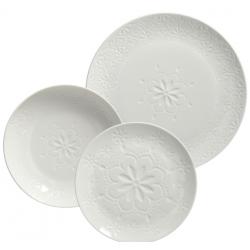 Porcelán étkészlet 18db-os, 6 személyes, Moon Bianca