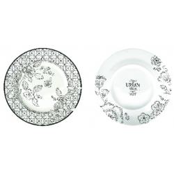 Porcelán desszerttányér 19cm, Urban Chic
