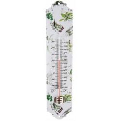 Hőmérő fém - gyógynövény mintázat