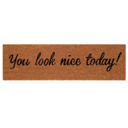 "Lábtörlő 75x22cm, ""You Look Nice Today"""