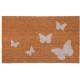 Lábtörlő 75x45cm, fehér pillangós