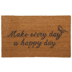 "Lábtörlő 75x45cm, ""Make every day a happy day"""