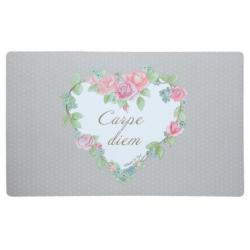 Előszobabelépő 73x44cm, rózsás-szíves, Carpe diem